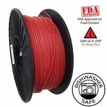 Raptor Series PLA - High Performance 3D Filament - Vivid Red - 2.85mm  -  1KG
