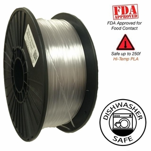 Raptor Series PLA - High Performance 3D Filament- HD Clear -  1.75mm - 1KG