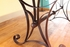 """Antique Multicolor 79"""" Dining Table with Iron Base"""