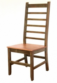 Antique Multicolor Solid Wood Chair