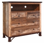 Antique Multicolored Media Chest