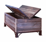 Antique Trunk Storage Cocktail Table