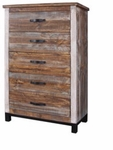 Artisan Rustic Aspen Five-Drawer Chest