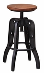 Artisan Parota Adjustable Swivel Stool 1