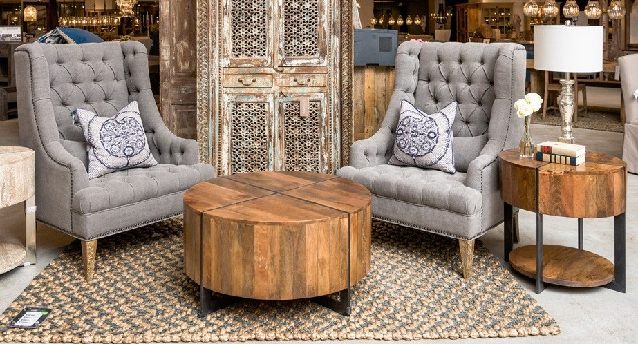 Classic Home Rustic Desmond Round Coffee Table