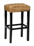 Classic Home Rustic Kirana Backless Stool