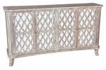 Classic Home Rustic Lattice Sideboard