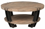 Classic Home Rustic Marcelo Round Coffee Table