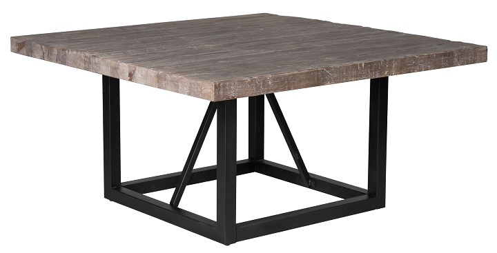 classic home rustic messina square dining table