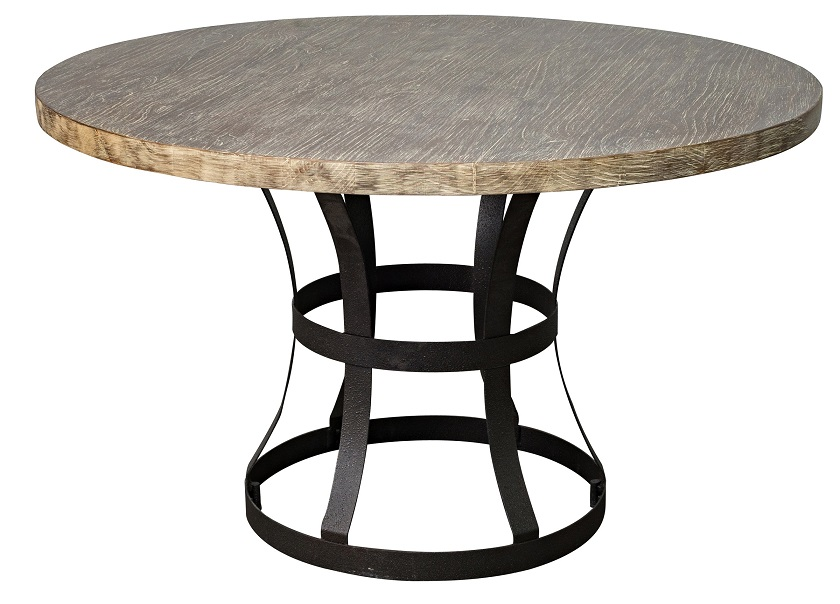 Classic home rustic tribeca round dining table for Classic home tables