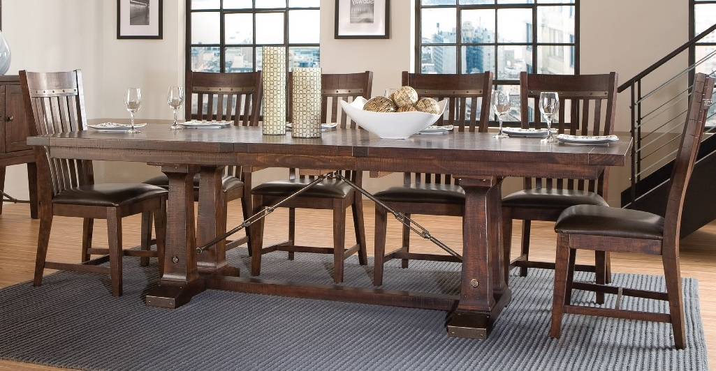 Charmant Hayden Trestle Dining Tabe
