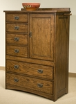 Oak Park 6-Drawer Chest with Door
