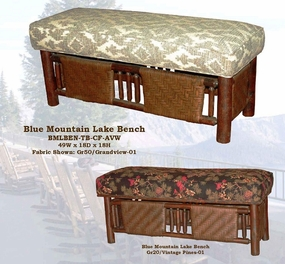 Old Hickory Blue Mountain Lake Bench