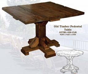 Old Hickory Old Timber Pedestal Table