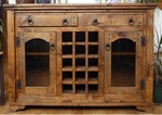 Rustic Autumn Wine Cabinet