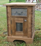 Rustic Barnwood/Alder Drawer / Door Side Table