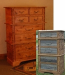 Rustic Barnwood/Alder Eight-Drawer Chest