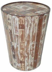 Rustic Hampton Barrel Side Table
