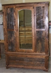 Rustic Homestead Mirrored Armoire