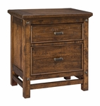 Wolf Creek 2-Drawer Nightstand