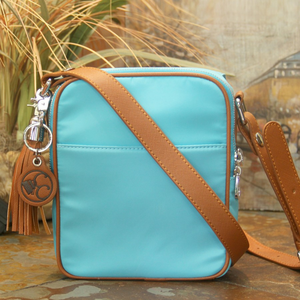 Casual Carrie Crossbody Compact Concealed Carry Turquoise