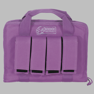 Lady Voodoo Purple Pistol Case with Mag Pouches