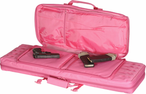 """Lady Voodoo Tactical Pink 42"""" Padded Weapons Rifle Case"""