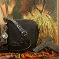 Microfiber Black Crocodile Concealed Carry Crossbody Compact