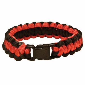 red rock gear paracord survival bracelet redblack