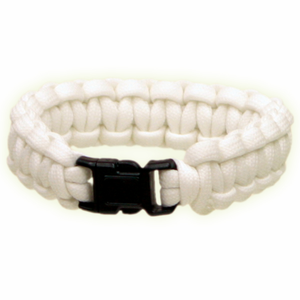 Red Rock Gear Paracord Survival Bracelet White/Glow in the Dark