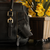 Aged Black Leather Concealed Carry Satchel