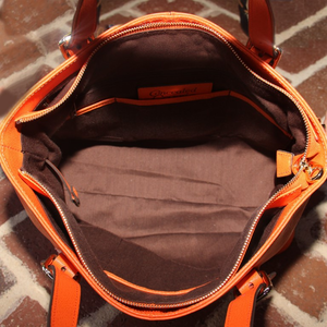 Smooth Pumpkin Leather Concealed Carry Tote