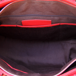 Smooth Red Leather Concealed Carry Tote