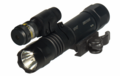 UTG LED Tactical Flashlight with QD Mount and W/E Adjustable Red Laser Combo
