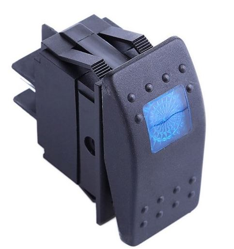 12V|20A Rocker Switches with Colored LED Back Light: SideBySideStuff.com