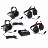 4 Person Intercom System with Behind-The-Head Headset Kit by Rugged Radios