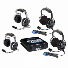 4 Person Intercom System with Over-The-Head Headset Kit by Rugged Radios