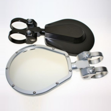 Axia Alloys 6 Inch Folding Side View Mirror |Sold in pairs|