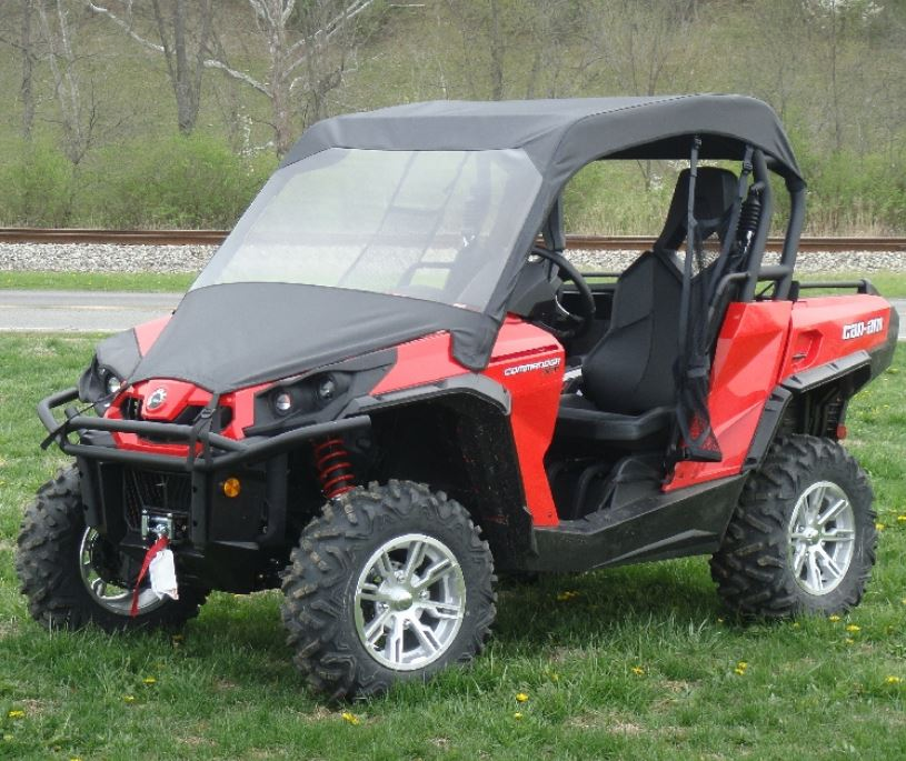 Can am maverick enclosures heaters sidebysidestuff gcl soft windshield and top can am commander maverick sciox Images