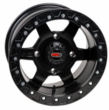 GMZ Black Casino Beadlock Wheel Set w| Lug Nuts - 14 and 15 Inch