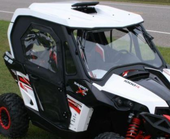 Hard Cab Enclosure with Soft Hinged Doors by WOC - 2013-15 Can Am Maverick