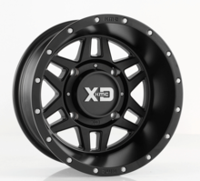KMC XD XS128 Machete Wheel Set w| Lug Nuts - 14 and 15 Inch