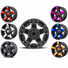KMC XS811 Rockstar 2 Wheel Set w| Lug Nuts - 14 | 15 | 16 | 18 | 20 Inch