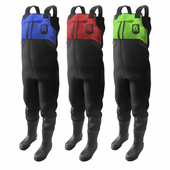 Men's Throttle Series Black Wader with Accent Colors by Gator Waders