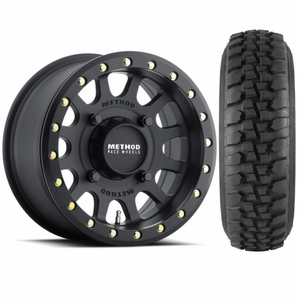 Method 401 Matte Black Beadlock Wheels w| Tensor Desert Series Tires