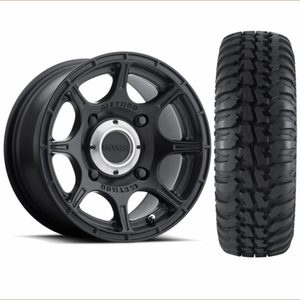 Method 408 Matte Black Roost Wheels w| Tensor Regulator A|T Tires
