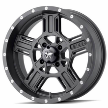 MSA M32 Axe Matte Gray Wheel Set w| Lug Nuts - 14 | 15 | 16 | 18 | 20 Inch