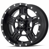MSA M32 Axe Satin Black Wheel Set w| Lug Nuts - 14 | 15 | 16 | 18 | 20 Inch