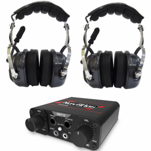 NavAtlas 2 Person Compact Intercom System w| Over The Head Headsets