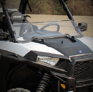 Seizmik Hard Coated Polycarbonate Half Windshield - Polaris RZR